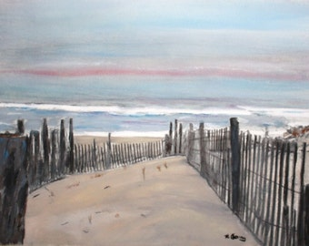 Red Skies on LBI  ---original --- SIGNED PRINTS 8 X 10 - 15.00, 11 x 14 - 25.00, 13 X 19- 35.00. Message me and I will list them .
