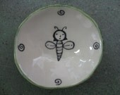 Small Bee Bowl made by Marcia Hovland