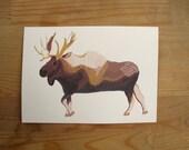 Moose 5x7 Print