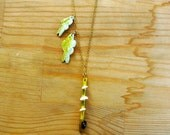 Fishing Pole Necklace With Fish