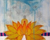 """Blessing - 8.5 by 11"""" Mixed Media Art Print by Faith Evans-Sills"""
