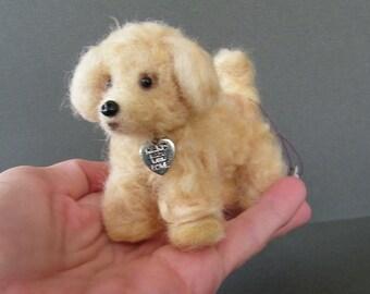 Puppy Dog , Needle felted OOAK