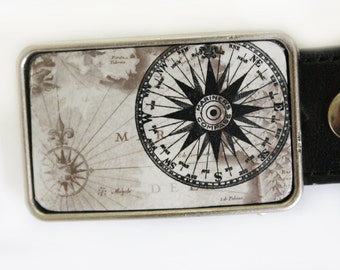 Mariners Compass Nautical Belt Buckle