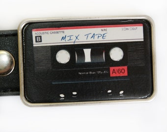 Mix Tape Cassette Tape Belt Buckle