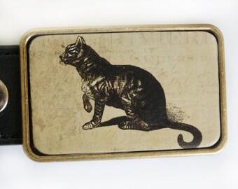 Cat Kitty Belt Buckle