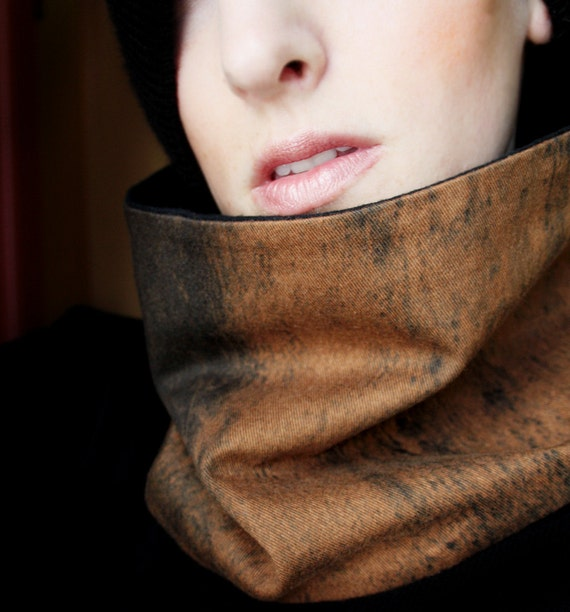 Men's Winter Scarf Brown and Black