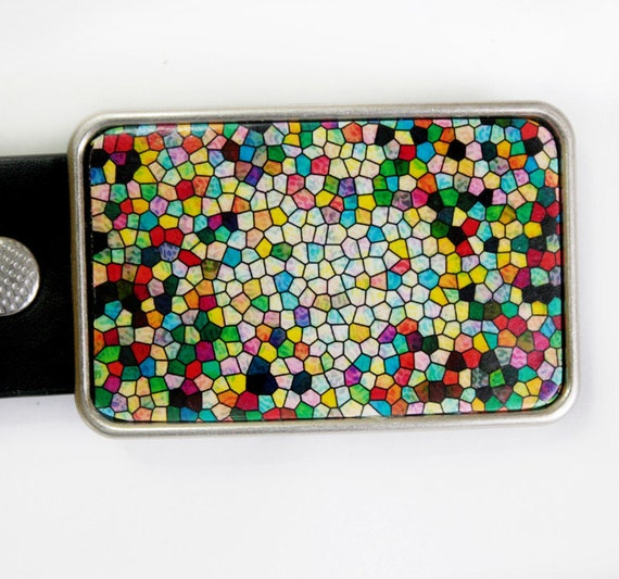 Stained Glass Belt Buckle