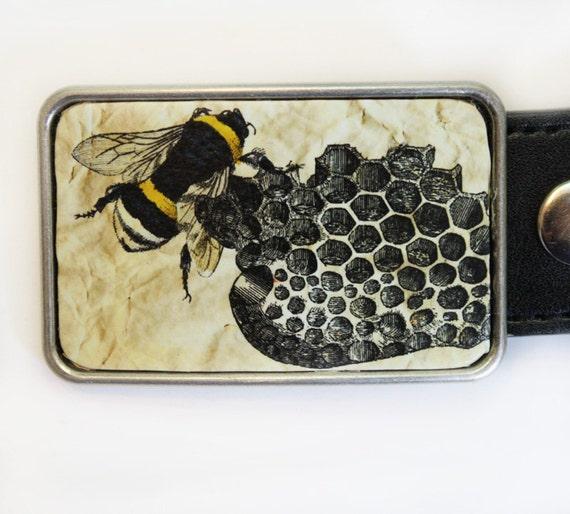 Bee Beehive Belt Buckle