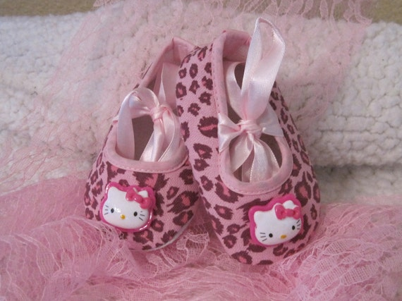 items similar to baby crib shoes pink cheetah on etsy