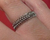 Stainless Steel Chainmaille Ring - MADE TO ORDER