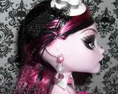 Crystal and Pearl Monster High Barbie Doll Earrings