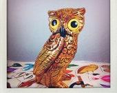 OWLFRED vintage ceramic owl figurine