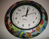 X-MEN Custom Recycled Comic Book Wall Clock