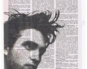 Robert Pattinson TWILIGHT Movie Altered Art Vintage Dictionary Page
