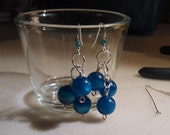 CUSTOM LISTING for Stacey - Vintage blue moonglow clusters