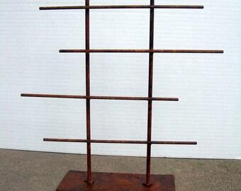 SHORT Rustic Metal Jewelry Display Rack