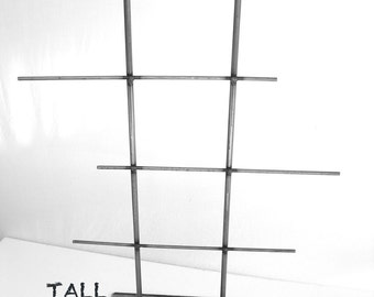 TALL Natural Steel Metal Jewelry Display Rack