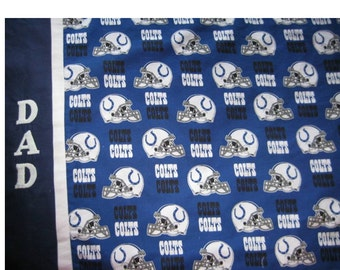 Colts Pillowcase for Football Fan - Personalized - Name Glows in the Dark