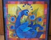 Colorful Peacock Puzzle Picture