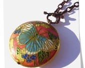 Butterfly Cloisonne Pendant Necklace