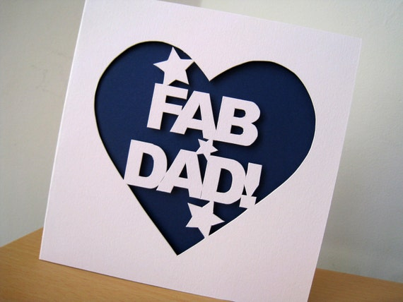 Custom Dad Hand Cut Father's Day Card
