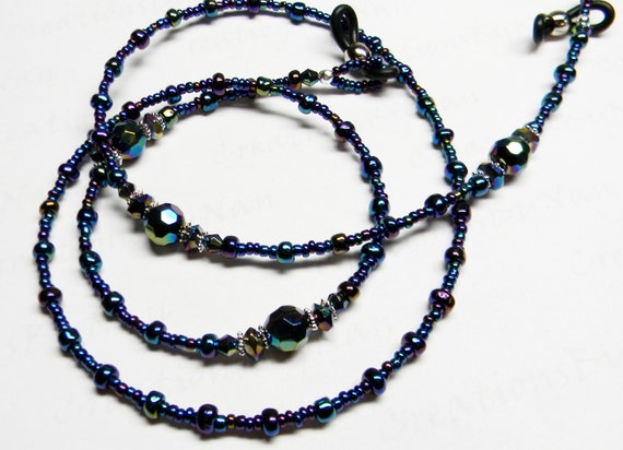 Beaded Eyeglass Leash / Glasses Holder / PEACOCK / Teacher / Nurse / College Student / Nursing Home / Great Gift