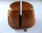 Mesquite wood natural form bookends
