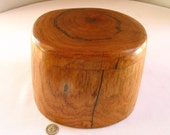 Large jewelry box keepsake box narural form mesquite with turquoise inlay