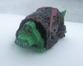 crocodile mini tin mailbox