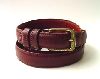 vintage Coach Rust Brown Leather Belt