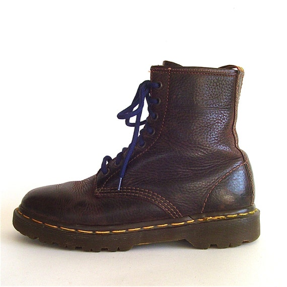 vintage doc martens brown leather combat boots by. Black Bedroom Furniture Sets. Home Design Ideas