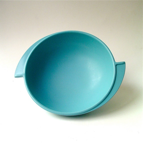 vintage Melmac Aqua Blue Boontonware Bowl