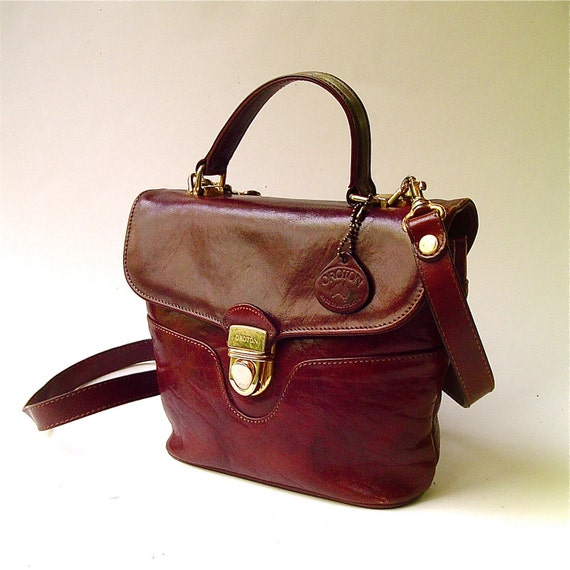 vintage Oroton Chestnut Brown Leather Purse