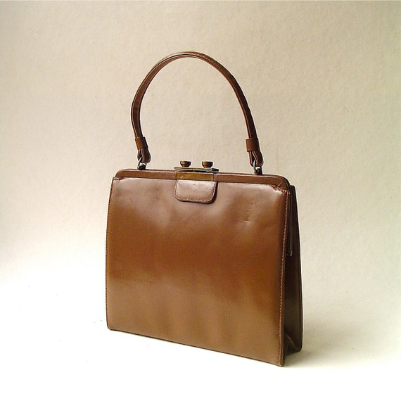 Mod vintage Brown Leather Purse