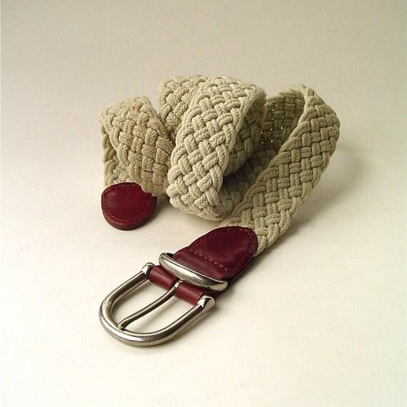 vintage Natural Braided Cotton Fiber Belt