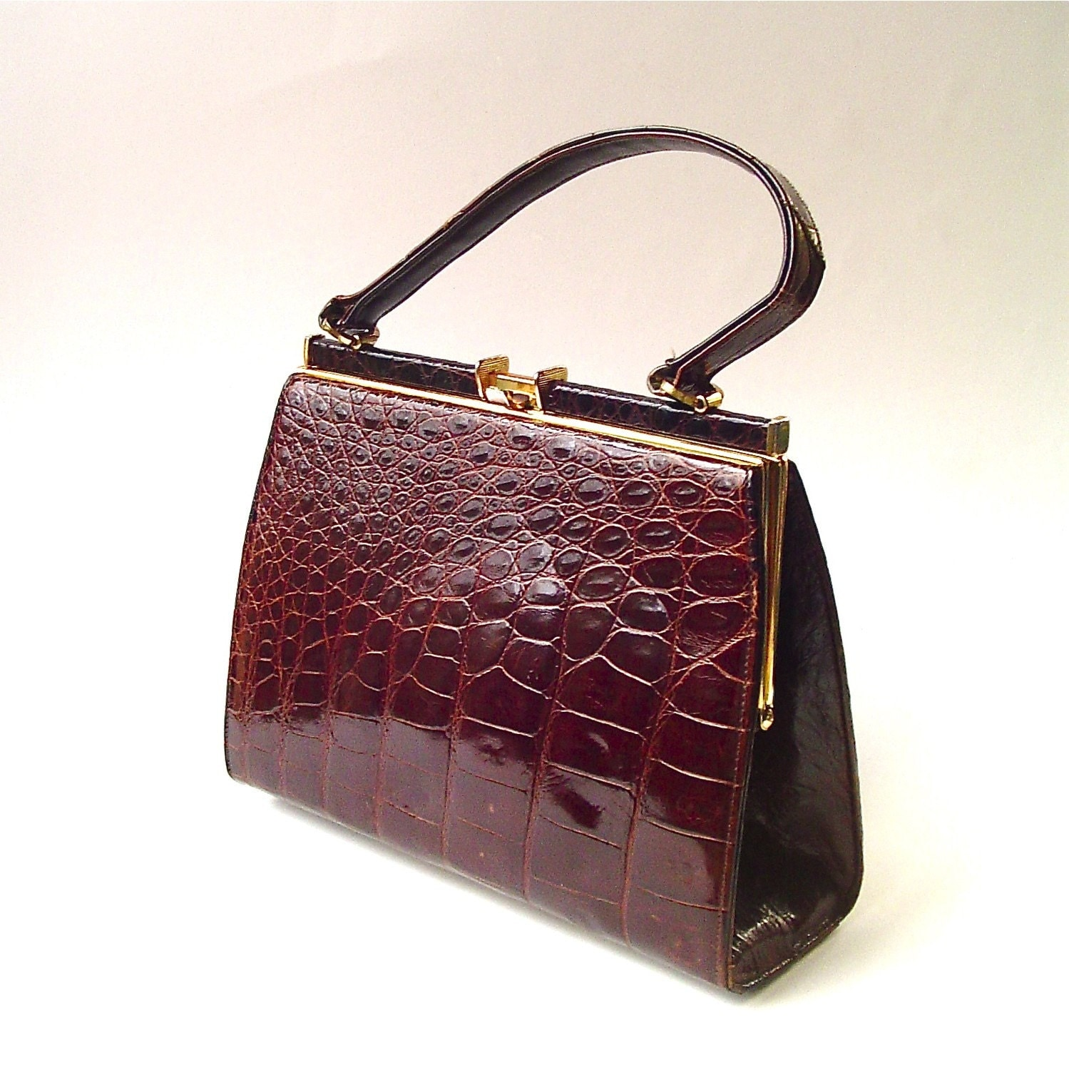 50s Vintage Alligator Skin Purse