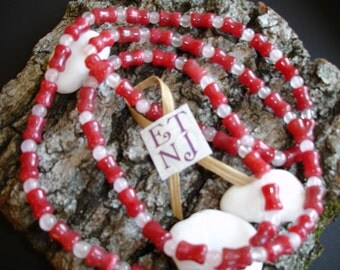 37 inch Raspberry Natural Stone Necklace