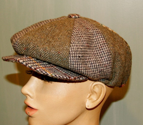 Vintage Donegal Handwoven Irish Wool Cap made for Harrods
