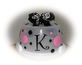 INTRODUCTORY Price  - Polka Dots, Bow and Monogram KIT for Cake Carriers - SASTEAM