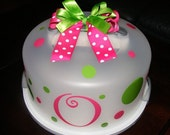 INTRODUCTORY Price  - Polka Dots, Bow and Monogram KIT for Cake Carriers SASTEAM