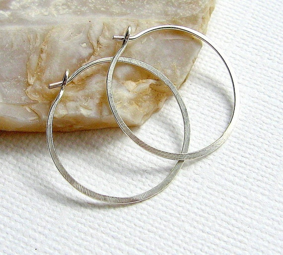 RESERVED for GR - Sterling Silver Hoops - 22mm