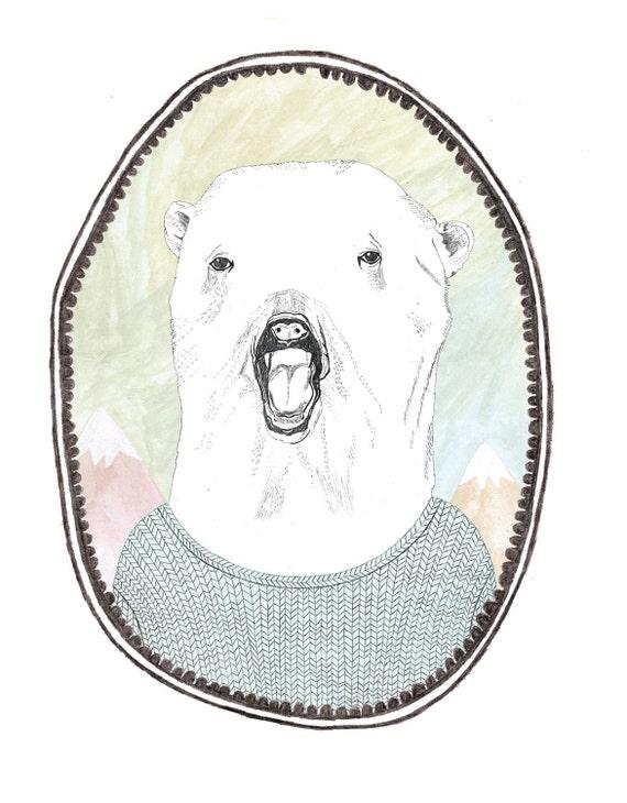 POLAR BEAR temporary tattoo