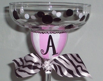 Hand Painted Margarita Glass Personalized
