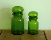 Green Glass Apothecary Bottles made in Belgium