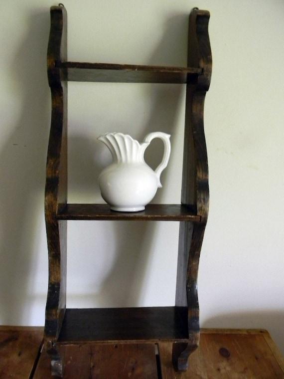 Vintage Farmhouse Wooden Ladder Shelf by NovemberSoundVintage