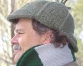 Elementary -  Deerstalker Knitting Pattern PDF - Knit in one piece - Great Steampunk accessory