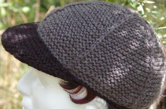 Knit Baseball Cap Pattern : Game Winning Home Run Baseball cap KNITTING PATTERN