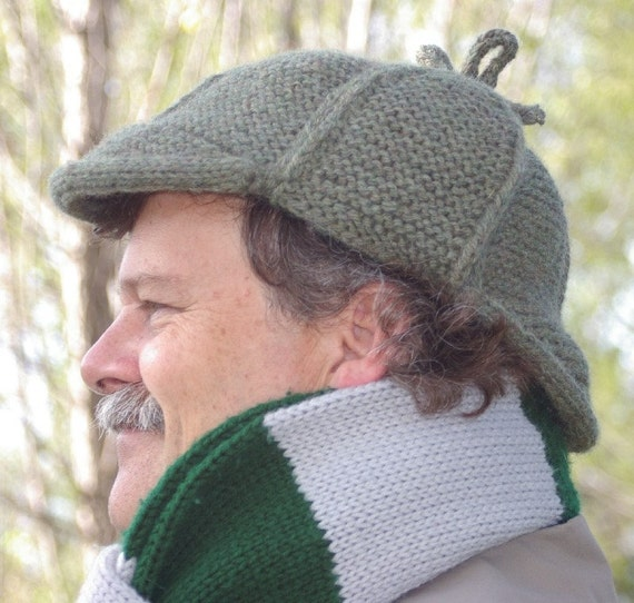 Elementary Deerstalker Knitting Pattern PDF Knit in one