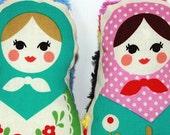 Russian Matryoshka Nesting Dolls - Choose One