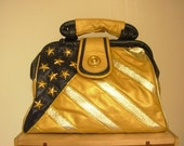 Vintage stars and stripes leather handbag FREE SHIPPING